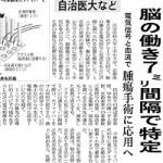 ミニブタダイレクト光トポグラフィー:日経産業新聞に掲載!